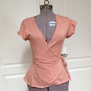BP Wrap Top with Short Sleeves   NWT